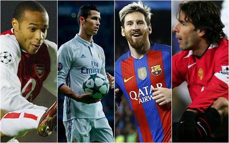 Top 10 chan sut vi dai nhat Champions League: Messi tien sat Ronaldo - Anh 1