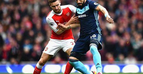 Middlesbrough khien Arsenal mat chuoi 6 tran thang lien tiep - Anh 1