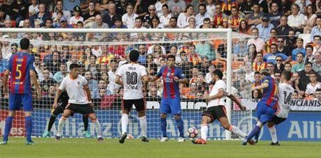 Tranh cai: Messi ghi ban khi Suarez pham luat - Anh 1