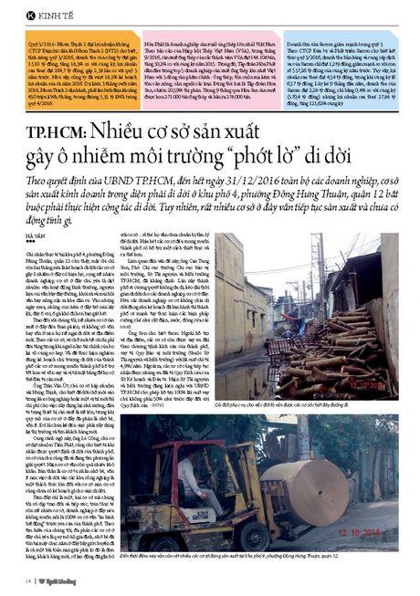 "TP.HCM: Nhieu co so san xuat gay o nhiem moi truong ""phot lo"" di doi - Anh 3"