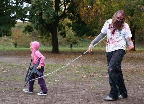 13 y tuong trang phuc hoa trang 'kinh hoang' cho bo va con gai trong dem Halloween - Anh 13