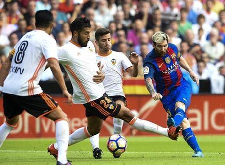 Messi ghi ban phut cuoi, Barca thang nghet tho Valencia - Anh 1