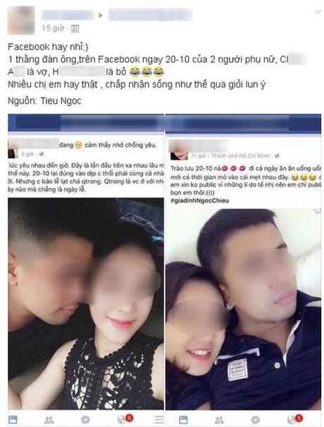 Hai phu nu khoe anh chung chong: Loi dang nguoi vo that - Anh 4