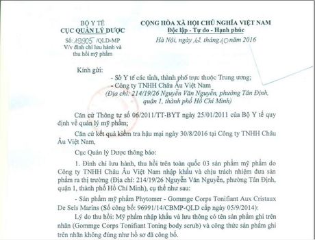 Thu hoi nuoc hoa Roberto Vizzari White Women cua Cty Chau Au VN - Anh 1