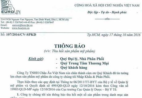 Cong ty TNHH Chau Au Viet Nam bi thu hoi 3 san pham my pham - Anh 3