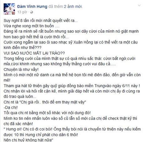 Nghi Dam Vinh Hung an chan tien tu thien, dan chi nhan tin gay soc - Anh 1
