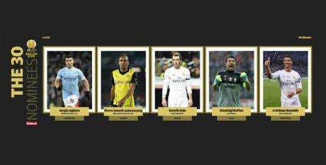 Ronaldo dan dau 5 ung vien dau tien tranh QBV 2016 - Anh 2
