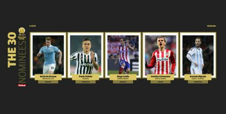Ronaldo dan dau 5 ung vien dau tien tranh QBV 2016 - Anh 4