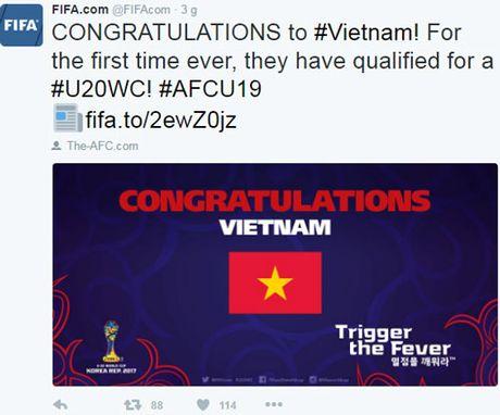 BAN TIN The thao: FIFA chuc mung chien tich lich su cua U19 Viet Nam - Anh 1