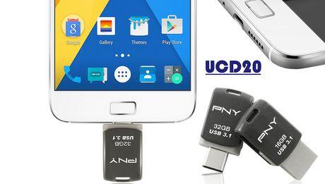 PNY tung ra cap USB OTG Type-C UCD10/20 gia tu 300 nghin - Anh 1