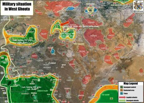 Quan doi Syria dap tan tuyen phong thu phien quan o ngoai vi Damascus - Anh 2