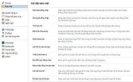 5 meo an toan khi su dung Facebook - Anh 1