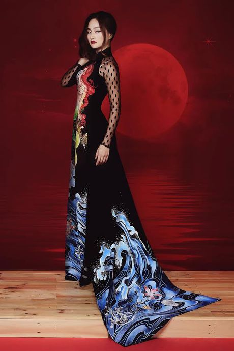 Lan Phuong dep ma mi trong bo anh ao dai Halloween - Anh 6