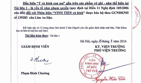 Chu tich Giay Vinh Tien to Cty Tie Mien Bac 'an cap' nhan hieu - Anh 3