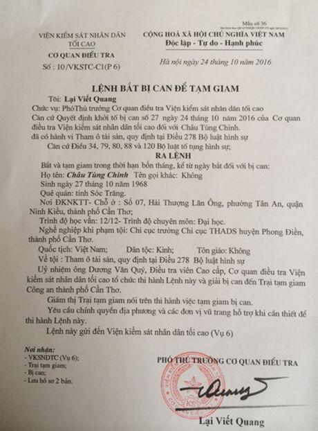Bat chi cuc truong thi hanh an tham o tien ty - Anh 2