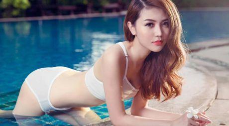 Hinh anh Ngoc Duyen nong bong voi bikini truoc khi doat giai 'Nu hoang sac dep toan cau' - Anh 1