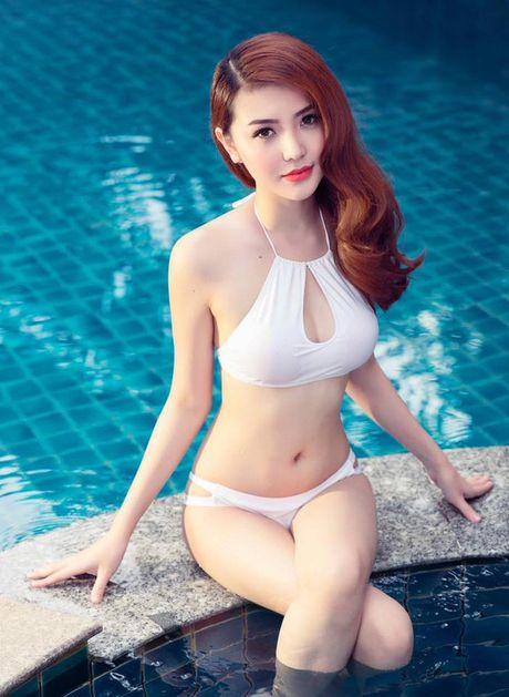 Hinh anh Ngoc Duyen nong bong voi bikini truoc khi doat giai 'Nu hoang sac dep toan cau' - Anh 5