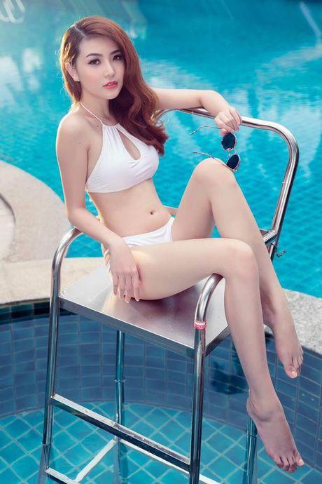 Hinh anh Ngoc Duyen nong bong voi bikini truoc khi doat giai 'Nu hoang sac dep toan cau' - Anh 7