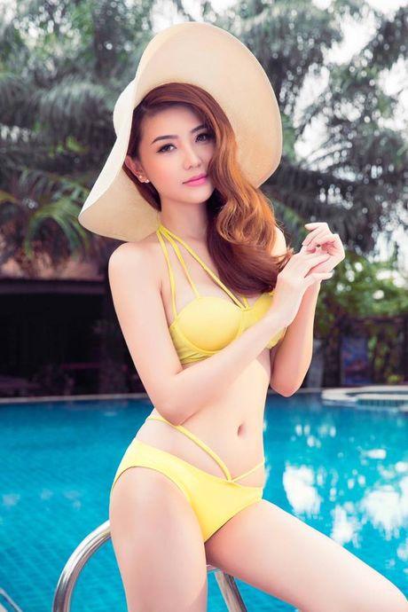 Hinh anh Ngoc Duyen nong bong voi bikini truoc khi doat giai 'Nu hoang sac dep toan cau' - Anh 3