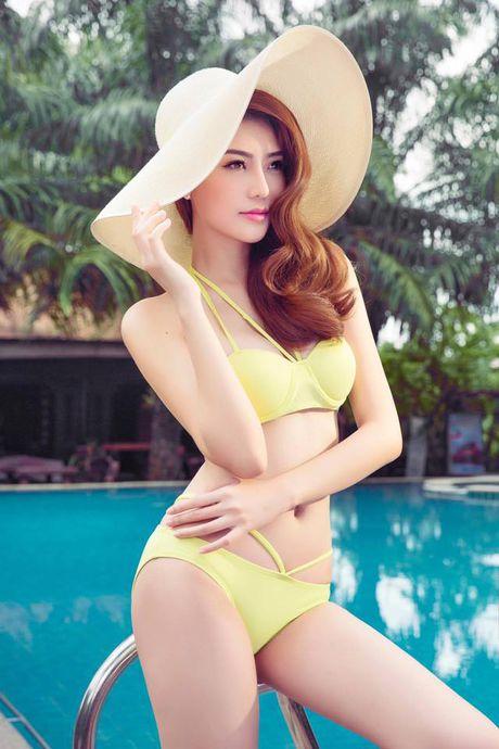 Hinh anh Ngoc Duyen nong bong voi bikini truoc khi doat giai 'Nu hoang sac dep toan cau' - Anh 4