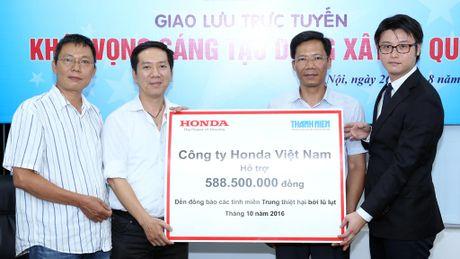 Honda Viet Nam ung ho dong bao vung lu hon nua ti dong - Anh 1