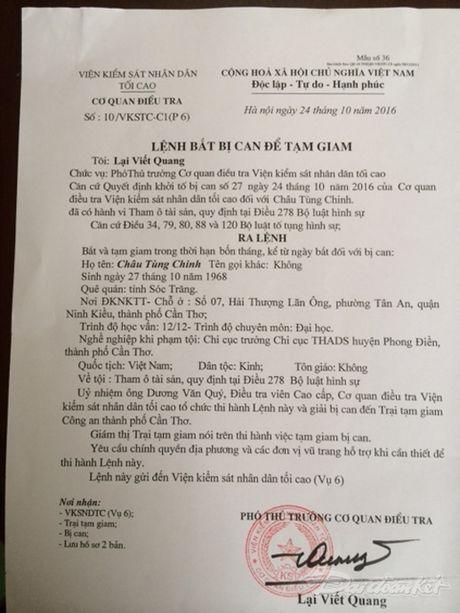 Bat giam nguyen Chi cuc truong THADS huyen Phong Dien - Anh 2