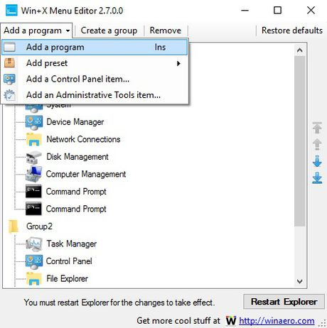 Windows 10: Toi uu hoa trinh don Win+X - Anh 3