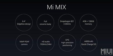 Xiaomi Mi Mix man hinh vien cuc ky mong trinh lang - Anh 3