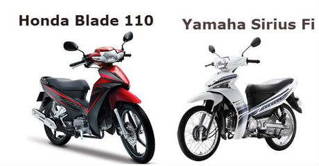 So sanh hai chiec xe may ban chay nhat Yamaha Sirius va Honda Blade - Anh 1