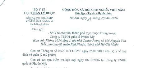 Cong ty TNHH Quoc te Phuoc My bi yeu cau thu hoi san pham - Anh 2