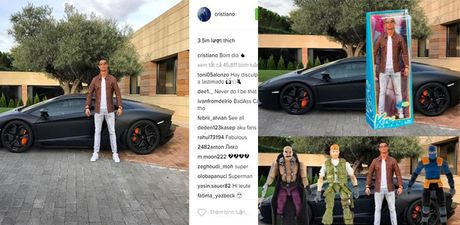 Anh che hai huoc Ronaldo voi sieu xe the thao Lamborghini Aventador - Anh 1