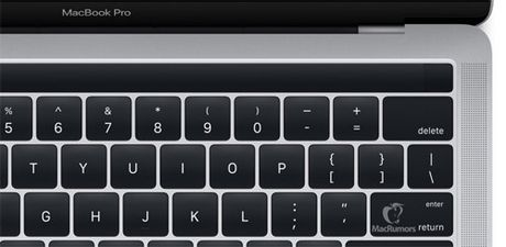 MacBook co man hinh OLED phu, TouchID lo dien - Anh 1