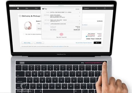 MacBook co man hinh OLED phu, TouchID lo dien - Anh 2
