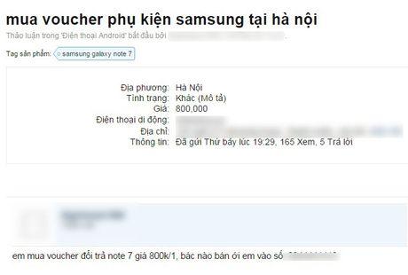 Dan buon len mang lung mua Galaxy Note 7 chinh hang de kiem loi - Anh 3