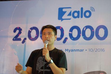 Sau 4 thang, Zalo dat moc 2 trieu nguoi dung o Myanmar - Anh 1