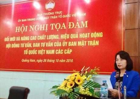 Nang cao chat luong, hieu qua hoat dong cua hoi dong tu van cho MTTQ - Anh 2