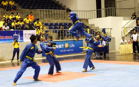 Khoi tranh Giai vo dich Vovinam toan quoc 2016 tai Nghe An - Anh 1