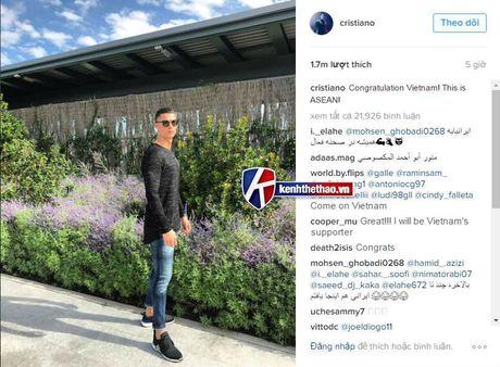 Cristiano Ronaldo gui loi chuc mung U19 Viet Nam? - Anh 1