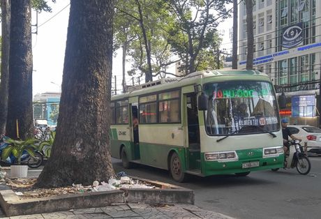 TP HCM: Cai nhau, tai xe xe buyt dam nguoi roi than nhien bo di - Anh 1