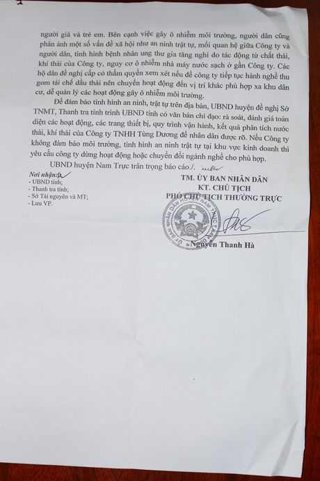 Dan doi di doi co so nau dau thai: Huyen Nam Truc bao cao tinh ND - Anh 3