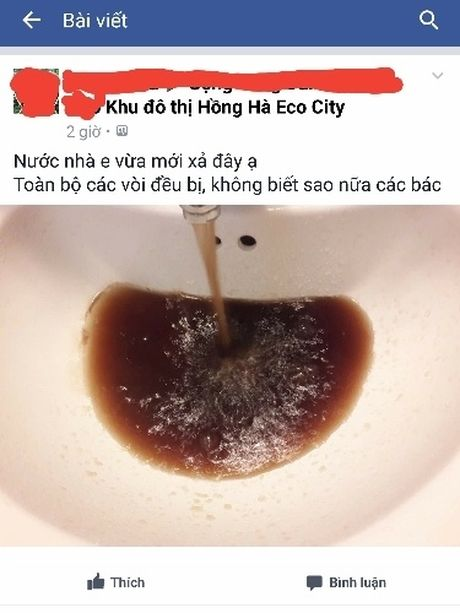 Cu dan KDT Hong Ha Eco City dung nuoc sach den nhu... song To Lich - Anh 1