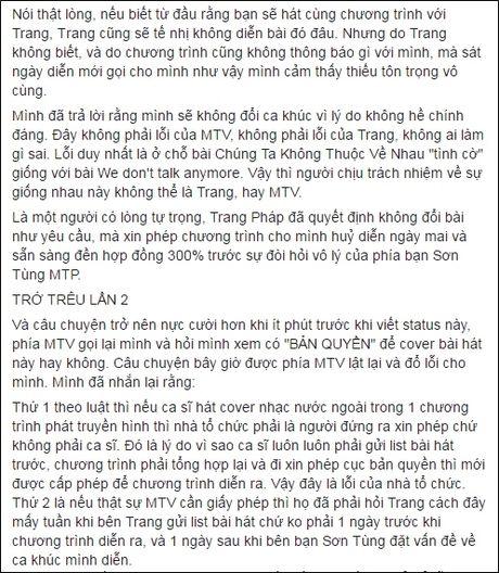 Son Tung M-TP phan ung bat ngo sau lum xum voi Trang Phap - Anh 3
