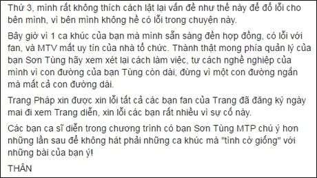 Son Tung M-TP phan ung bat ngo sau lum xum voi Trang Phap - Anh 4