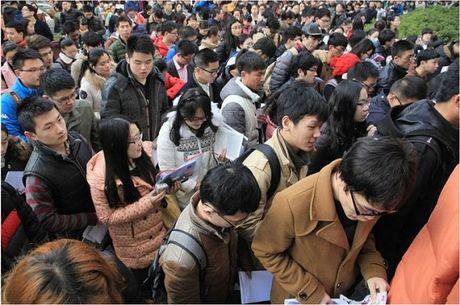 Trung Quoc: Gan 10.000 nguoi canh tranh lam le tan - Anh 1