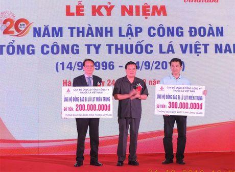 Cong doan Tong Cong ty Thuoc la Viet Nam ky niem 20 nam thanh lap - Anh 1