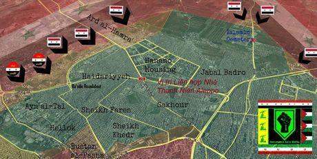 Quan doi Syria tan cong du doi tren huong Dong Bac Aleppo - Anh 1