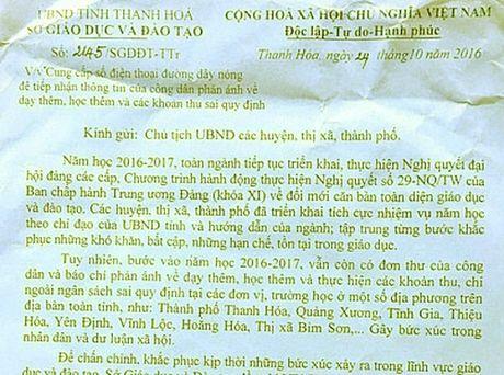 Thanh Hoa: So GD-DT lap duong day nong xu ly nghiem tinh trang lam thu - Anh 2