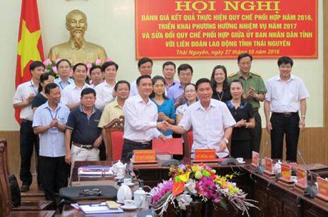 Thai Nguyen: Ky ket quy che phoi hop giua UBND tinh va LDLD tinh - Anh 1