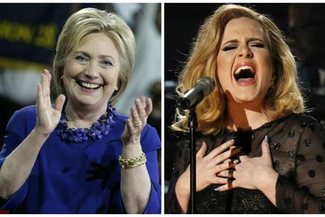 Gac chuyen bau cu, Hillary Clinton den xem Adele bieu dien - Anh 1