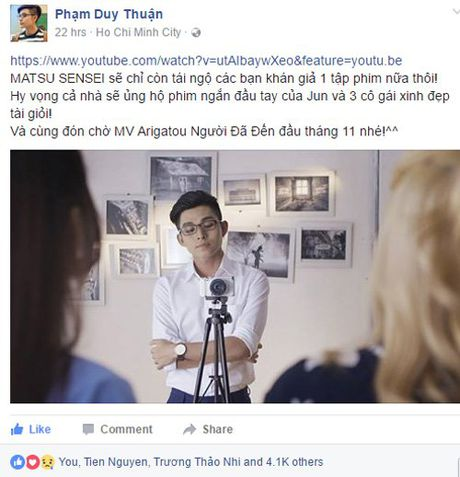 Jun Pham tiec nuoi chia tay webdrama 'Cam on Sensei' - Anh 4